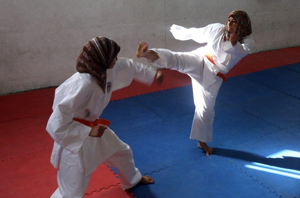 拳道的巴勒斯坦女孩
