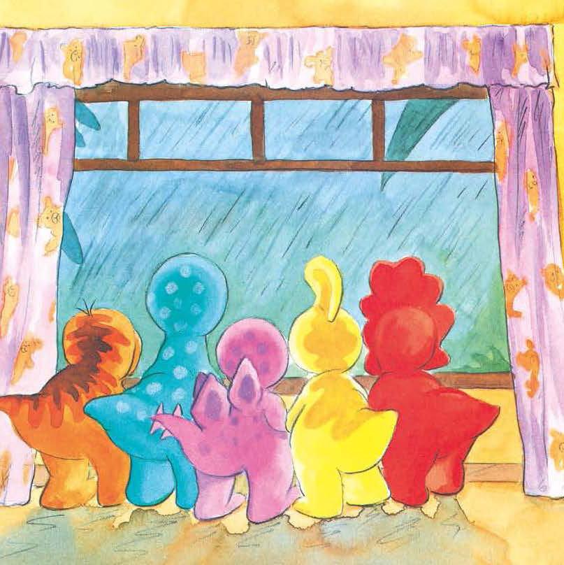 小班歌谱小猫走走走-大雨 小恐龙 情商 幼儿园
