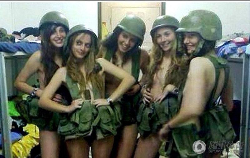 高清 以色列女兵 艳照门 男兵半裸秀肌肉