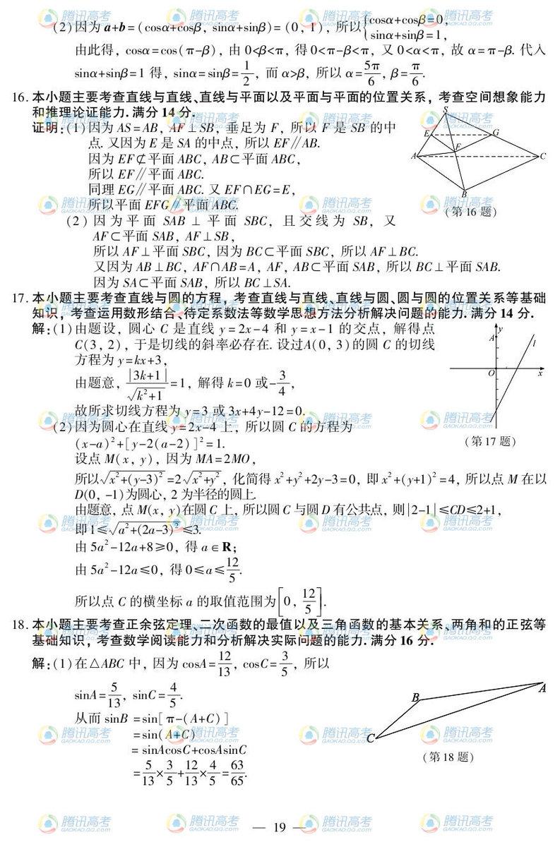 江苏高考数学试题答案2