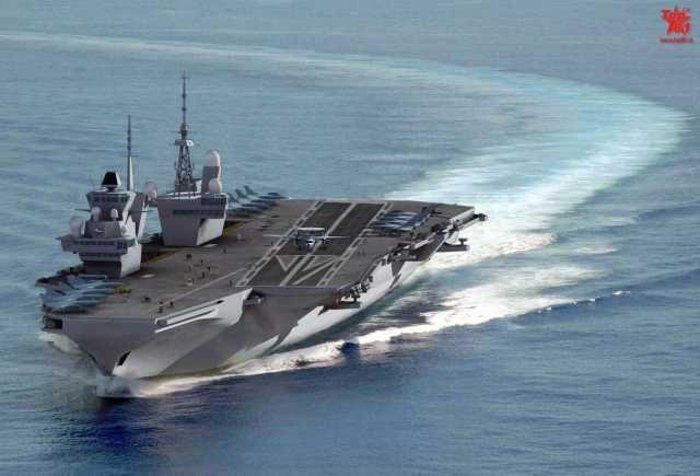 法国未来航母采用双舰岛 酷似英国新航母