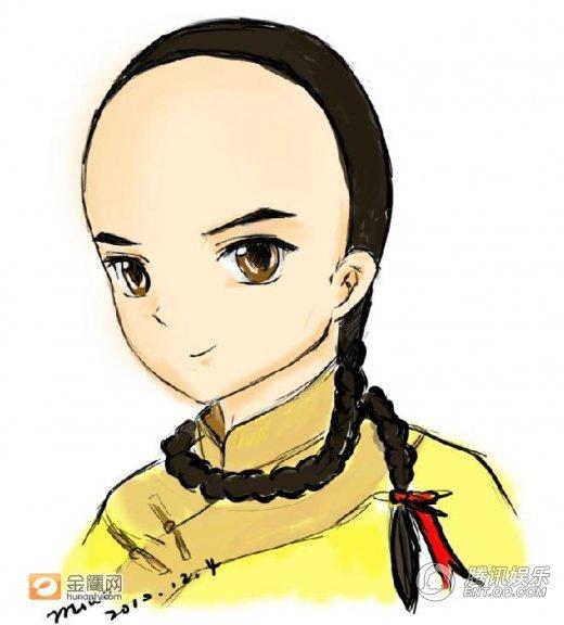 """热播剧卡通形象pk q版""""陆贞""""胜""""步步惊心"""""""