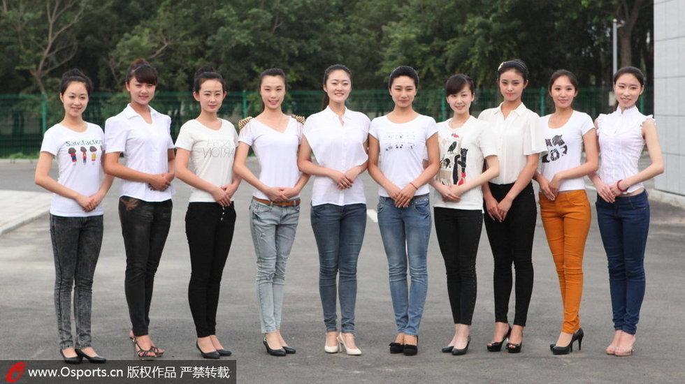 全运礼仪选拔193选10 众佳丽赤脚上阵组图 第