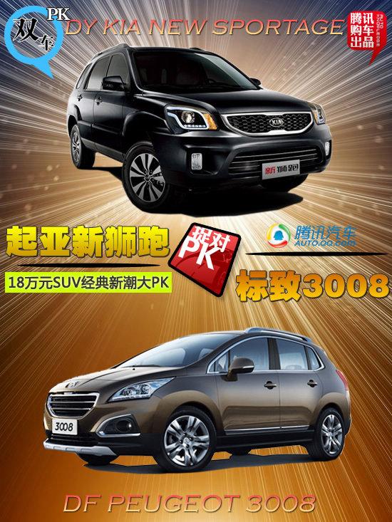 新狮跑对比3008 18万元SUV经典新潮大PK