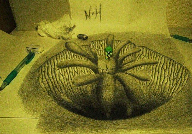 栩栩如生的3D立体素描画图片