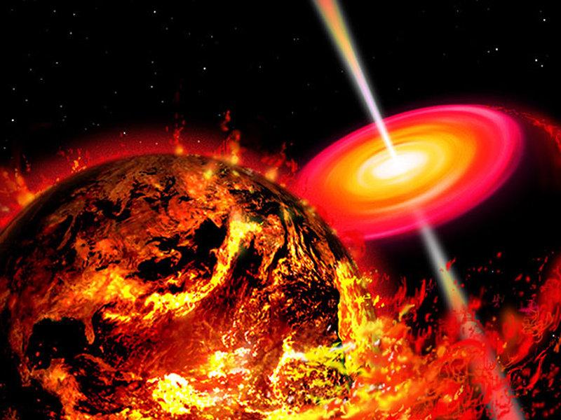 黑洞吞噬地球