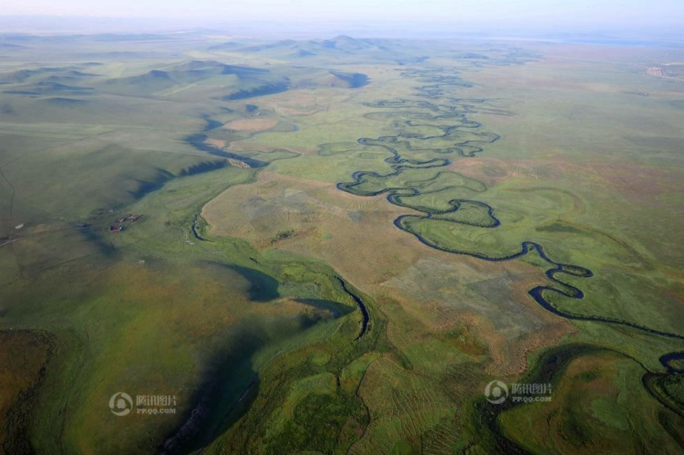 勒盟东北地区的乌拉盖河流域(2012年8月13日摄).内蒙古自治区