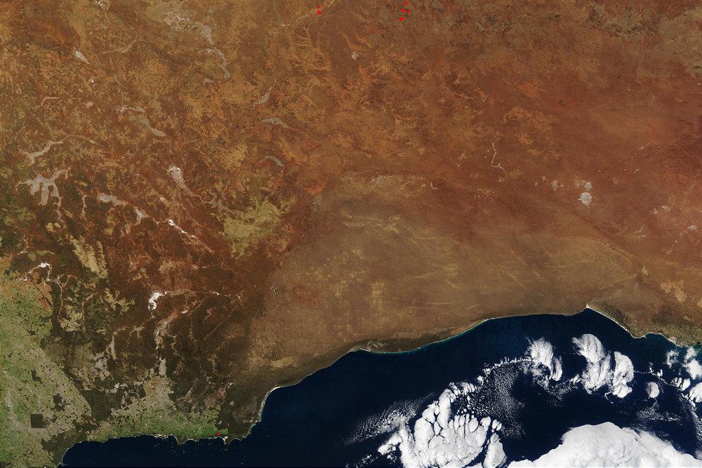 7、维多利亚大沙漠,64.7平方公里  这座沙漠主要是由红砂形成的沙