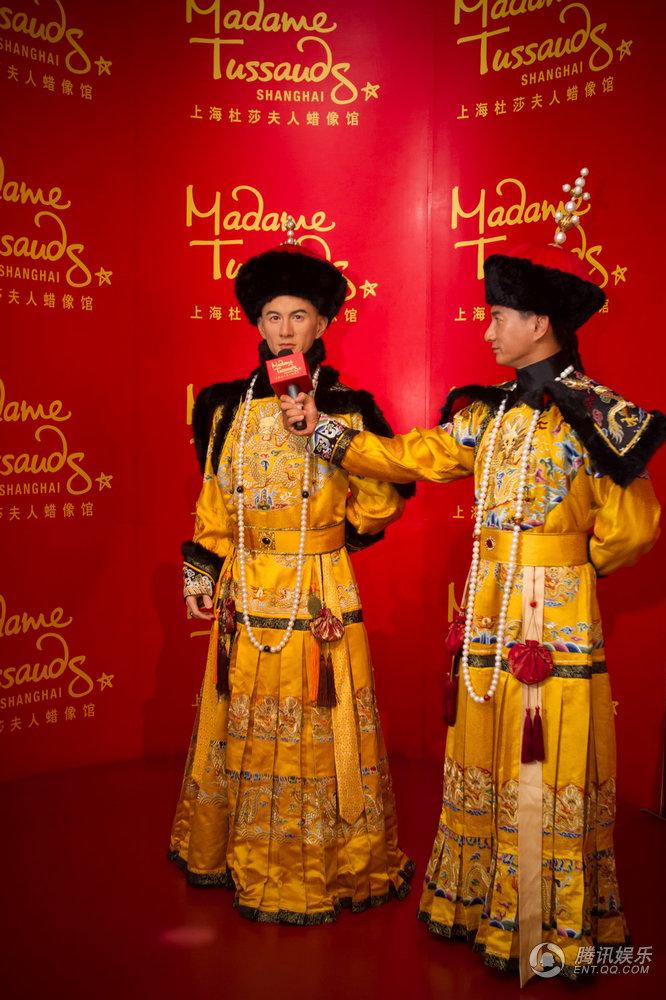 高清 吴奇隆 帝王形象 入驻杜莎夫人蜡像馆