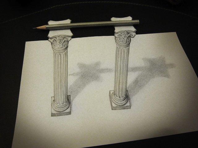 铅笔画简单3d立体画