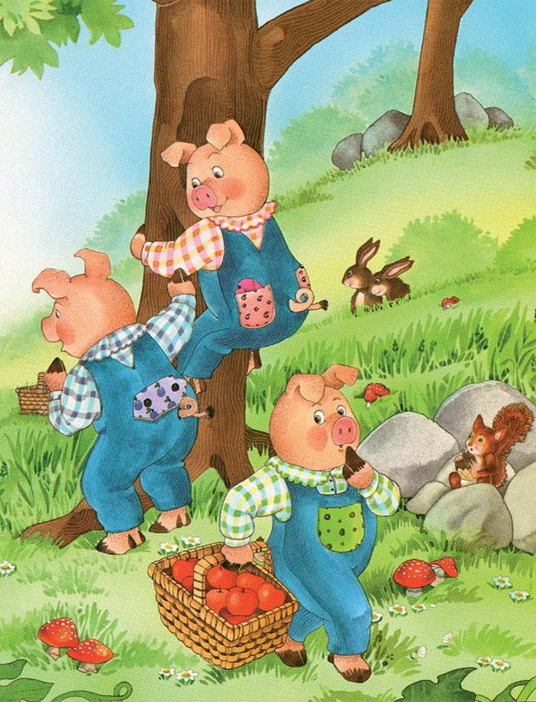 少儿漫画故事:三只小猪