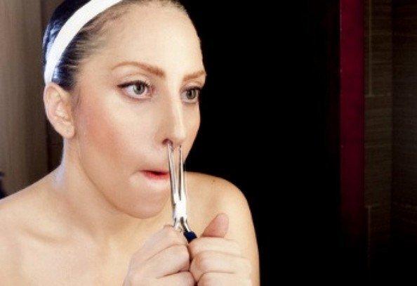Gaga自曝修鼻毛的照片.-Lady Gaga 穿衣服对她来说是行为艺术图片