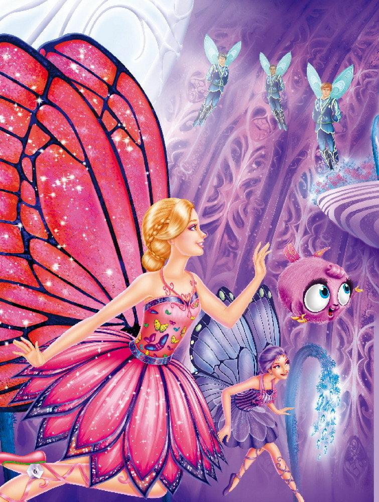 芭比之蝴蝶仙子与精灵公主中文版 芭比动画最新电影 2013高清图片