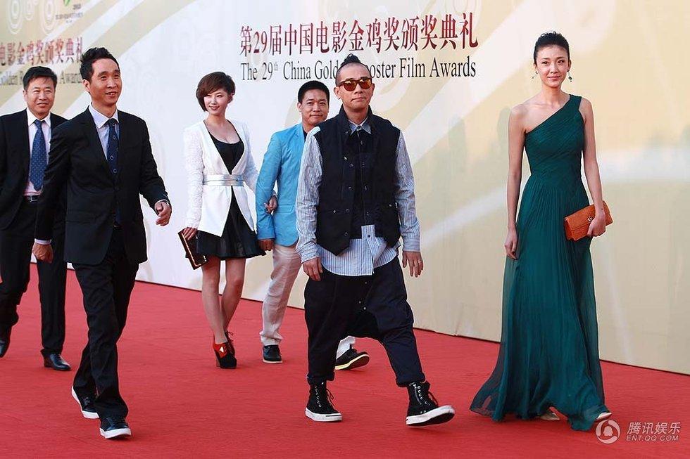 中国电影金鸡奖颁奖典礼红毯在湖北武汉举行.冯小刚、赵薇、黄晓