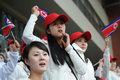 朝鲜美女啦啦队惊艳