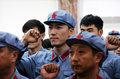 高清:刘翔穿红军军装 井冈山参加奥运动员会