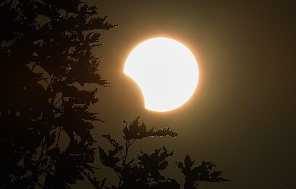 全球多地上演天文奇观 日全环食