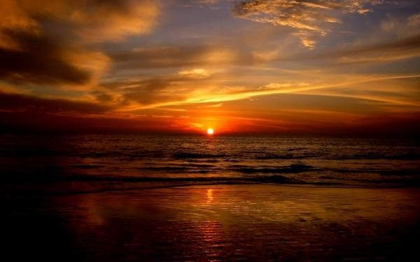 夕阳西下的美景 - 海阔山遥 - .