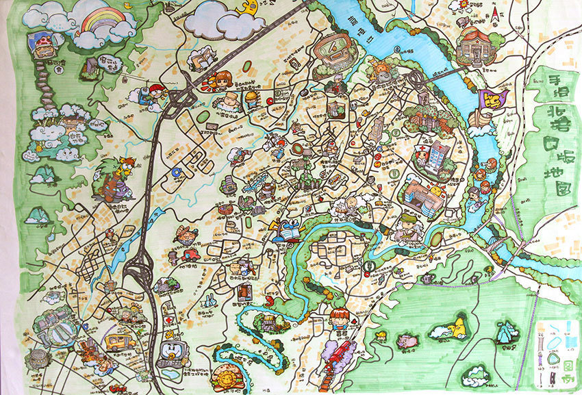地图简笔画卡通版