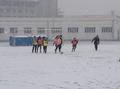 高清:牡丹江大幅降雪 同学雪地足球热情不减