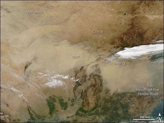 NASA从太空拍摄雾霾笼罩下的中国 - 望星辰 - 望星辰