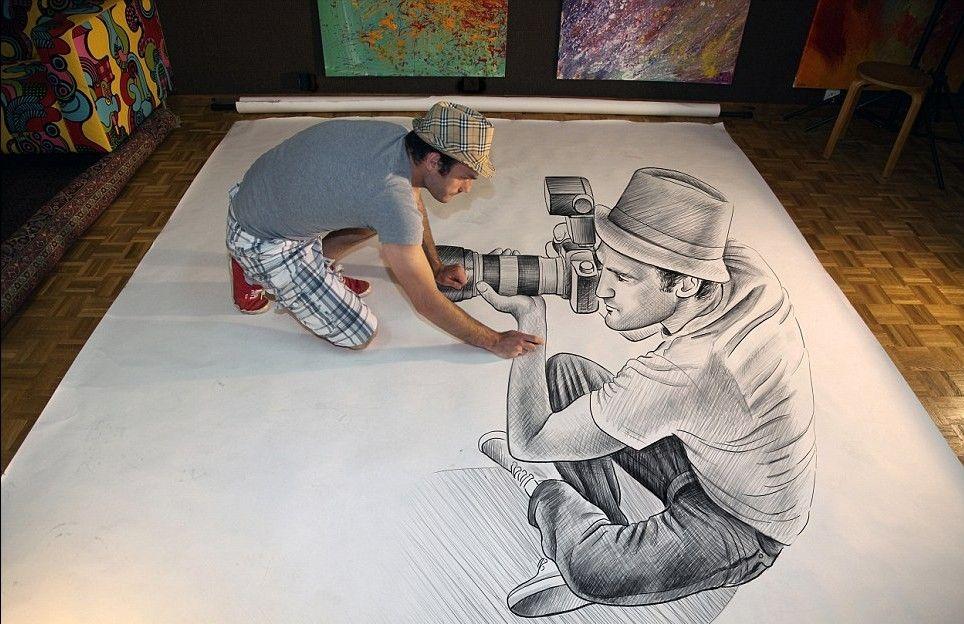 铅笔素描,绘出3d立体世界,真不敢相信自己的眼睛