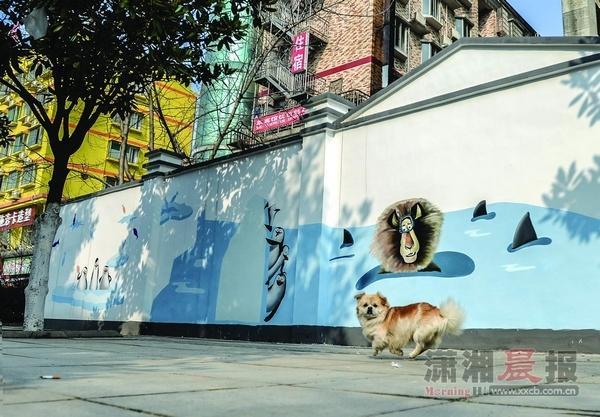 3d口交_组图:长沙一路口交会处卡通壁画引围观