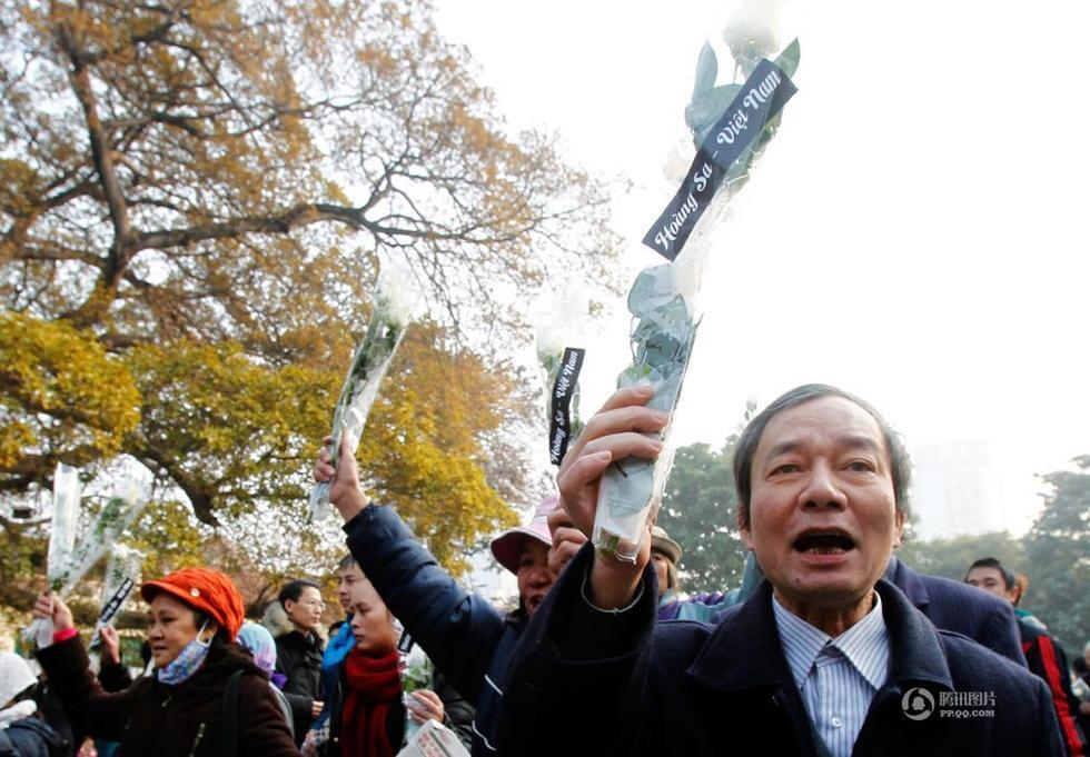昨天越南高调纪念西沙海战 民间发起反华示威