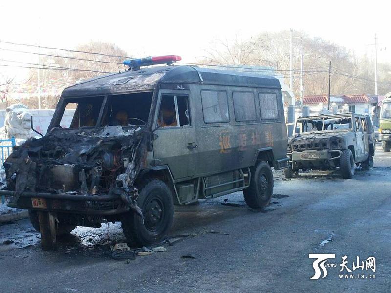 高清图—新疆阿克苏地区乌什县遭恐怖袭击 8人被击毙