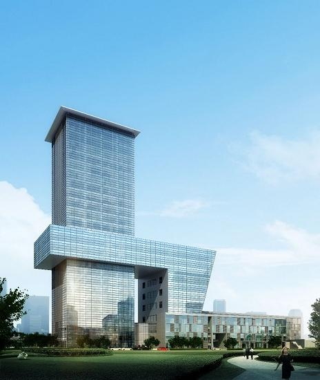 上海国际设计中心是安藤忠雄为中国设计的第