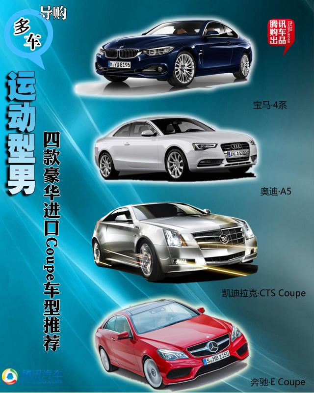 四款豪华进口Coupe车型推荐 运动型男