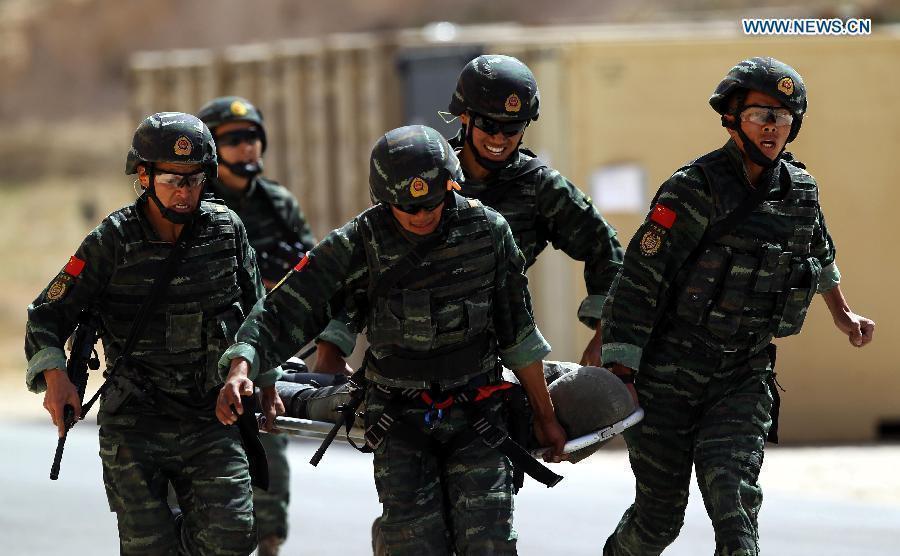中国3支武警部队约旦参赛 雪豹一举夺冠图片