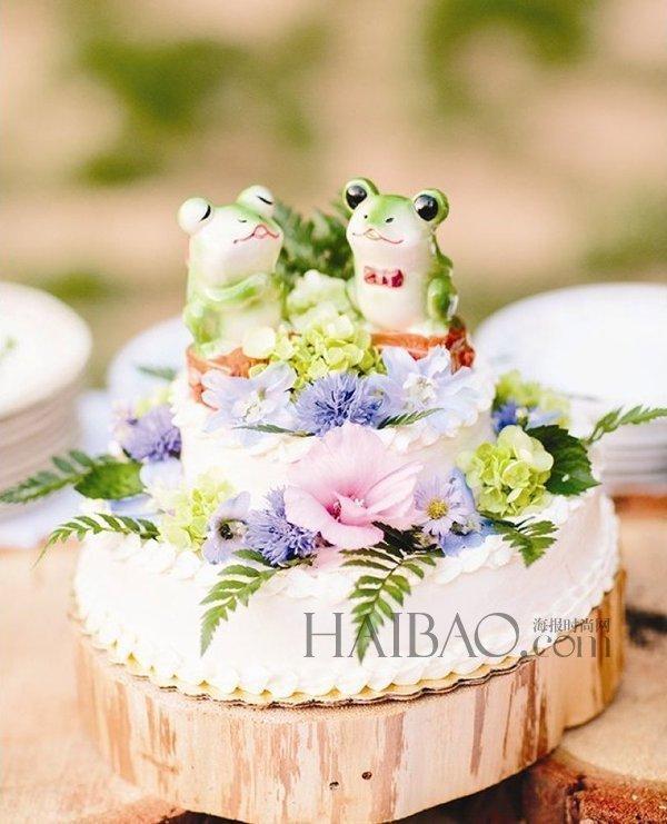 创意无限!可爱的动物题材婚礼蛋糕