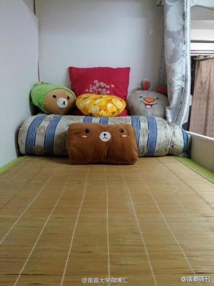 南昌大学设计专业男生自己装修寝室 清新优雅图片