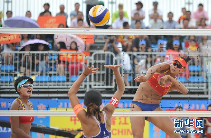 高清 亚洲沙滩排球锦标赛 薛晨 夏欣怡获铜牌