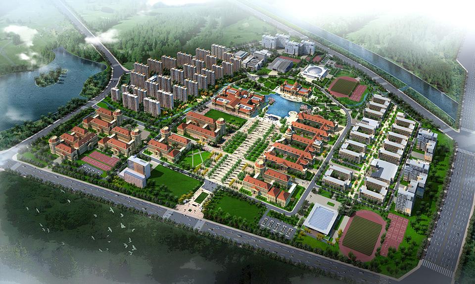 河南农大新校区鸟瞰图-组图 河南农业大学校园风景