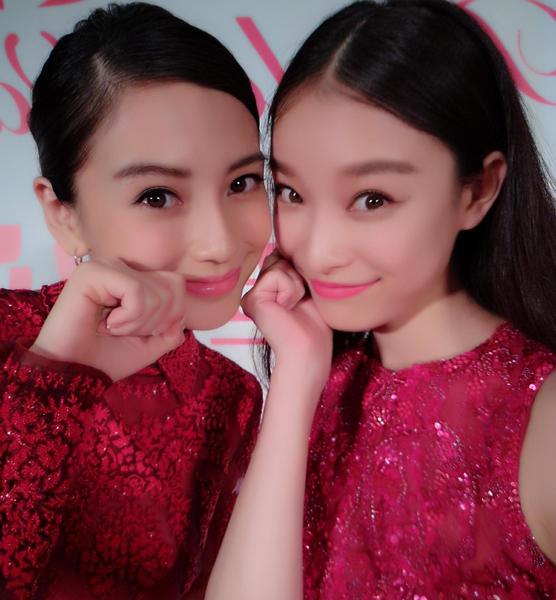 Angelababy与倪妮晒合影似双生姐妹花-angel