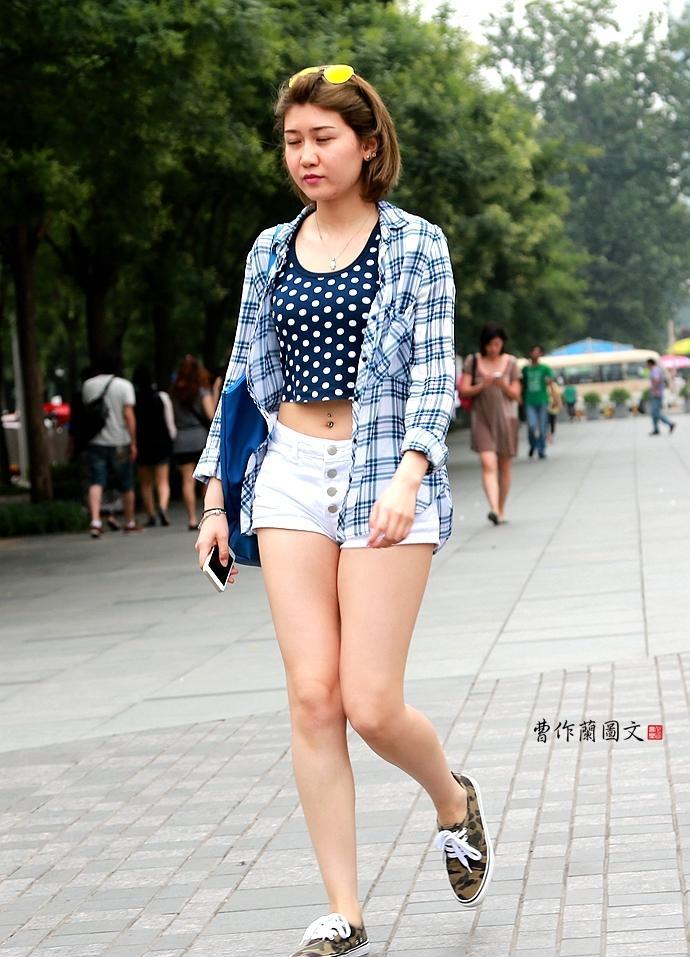 重庆露腰美女街拍大集合