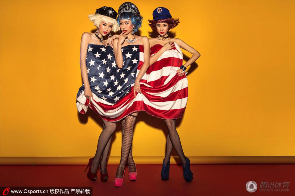 性感名模拍视觉大片 力挺美国战胜比利时图
