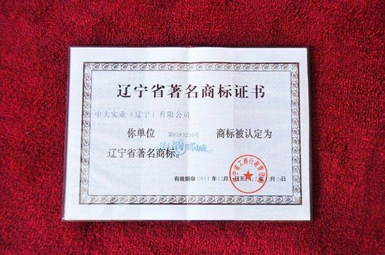 恭贺海韵郦城荣膺辽宁省著名商标称号