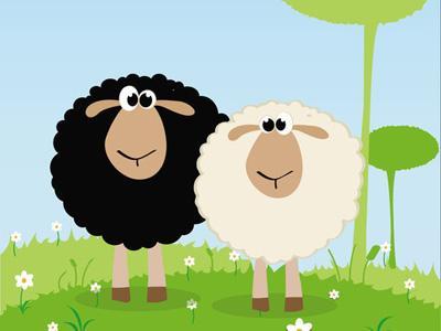 小羊动物头像面具