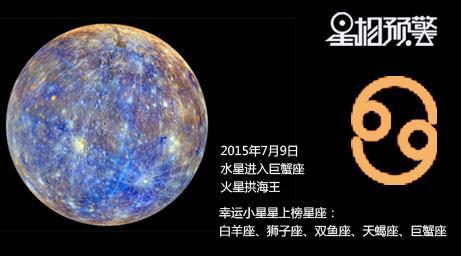 7月9日水星进入巨蟹