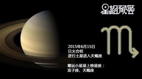 6月15土星逆回天蝎