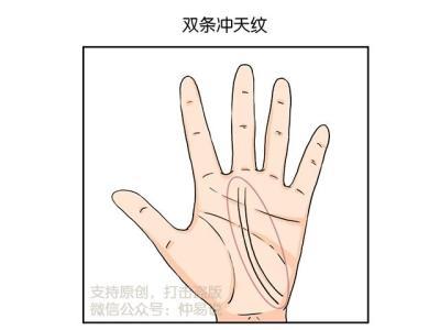 事业感情双丰收的手纹