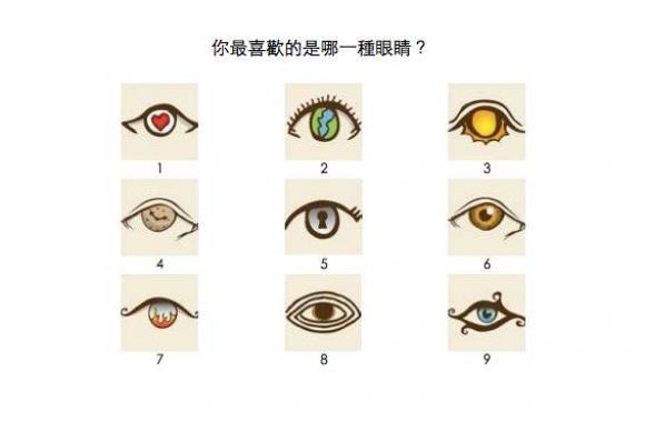 九个神秘眼测你内心