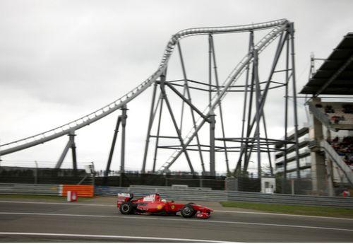 图为法拉利f1赛车在纽博格林参赛高清图片