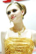 金发美丽洋模