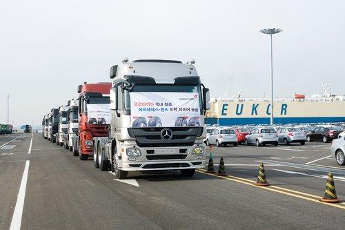 锦湖轮胎配套奔驰 与全球尖端卡车同前行