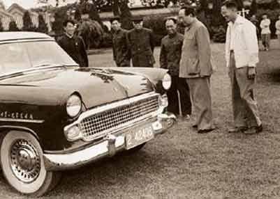 第一汽车如何选址长春 毛泽东与第一辆红旗高清图片