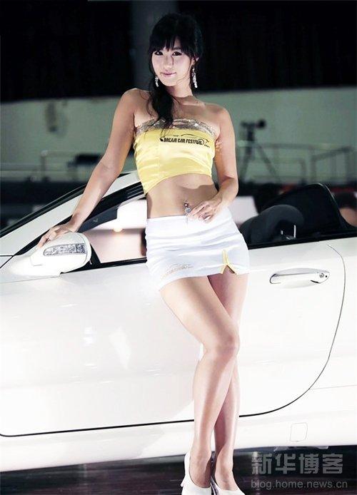 韩国第一车模宋智娜 展魔鬼身材性感逼人